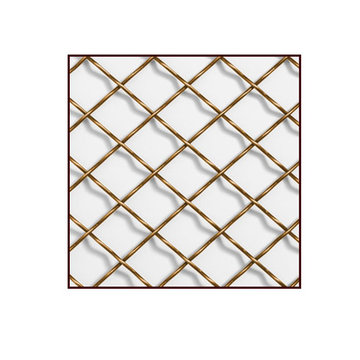 Klise Double Crimp Round Wire Grille With 3/4 Inch Spacing