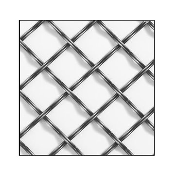 Klise Double Crimp Reeded Wire Grille With 1 1/4 Inch Spacing