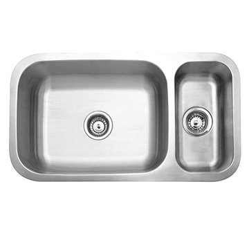Gourmetier Cambridge Stainless Steel Double Bowl Undermount Kitchen Sink
