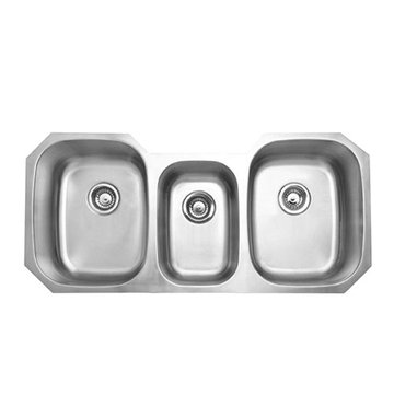 Gourmetier Denver Stainless Steel Triple Bowl Undermount Kitchen Sink