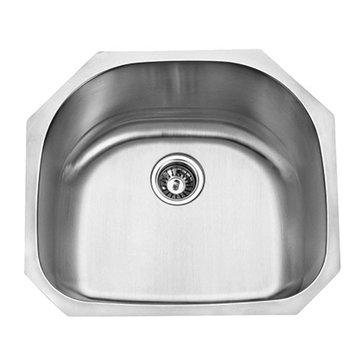 Gourmetier Manhattan Stainless Steel Single Bowl Undermount Kitchen Sink