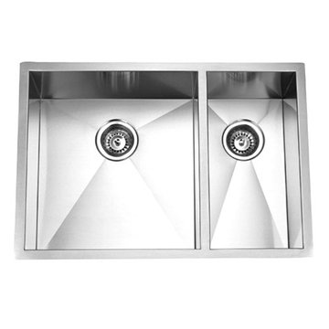 Gourmetier Towne Square Stainless Steel Double Bowl Undermount Kitchen Sink