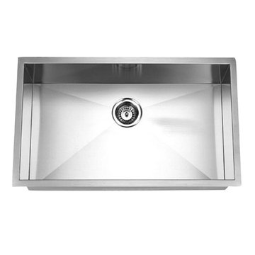Gourmetier Towne Square Stainless Steel Single Bowl Undermount Kitchen Sink