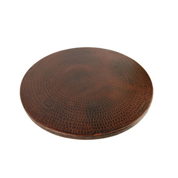 Premier Copper 18 Inch Hand Hammered Copper Lazy Susan