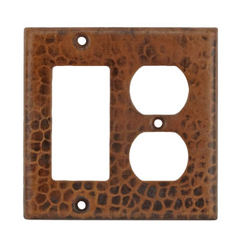 Premier Copper Copper Combination Switchplate
