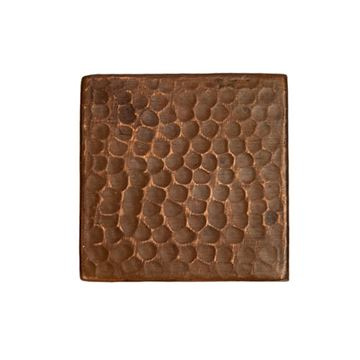 Premier Copper Hammered Copper Square Tile