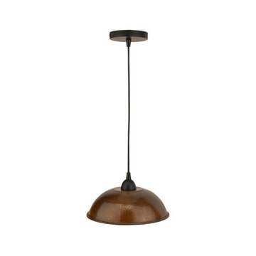 Premier Copper Hand Hammered Copper 10 1/2 Inch Dome Pendant Light