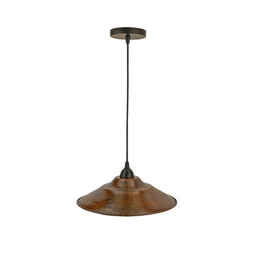 Premier Copper Hand Hammered Copper 13 Inch Large Pendant Light