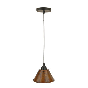 Premier Copper Hand Hammered Copper 7 Inch Cone Pendant Light