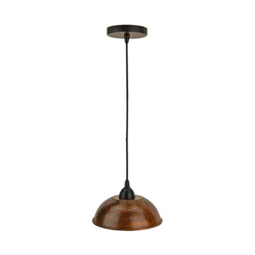 Premier Copper Hand Hammered Copper 8 1/2 Inch Dome Pendant Light