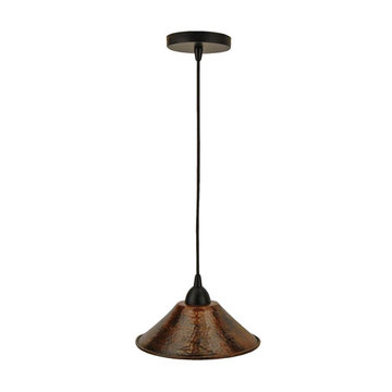 Premier Copper Hand Hammered Copper 9 Inch Cone Pendant Light