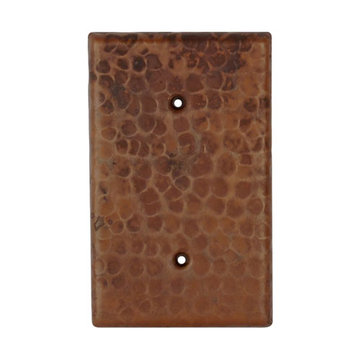 Premier Copper Hand Hammered Copper Blank Switchplate Cover