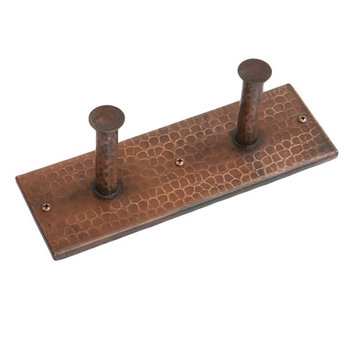 Premier Copper Hand Hammered Copper Double Robe Hook