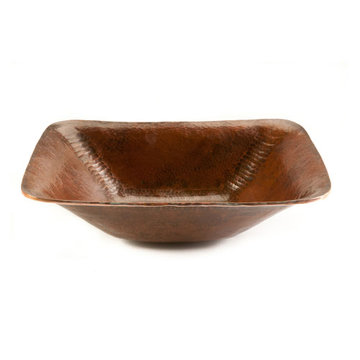 Premier Copper Rectangle Hand Forged Old World Copper Vessel Sink