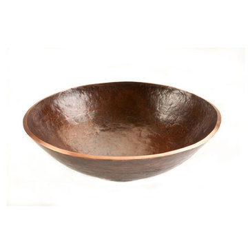 Premier Copper Round Hand Forged Old World Copper Vessel Sink