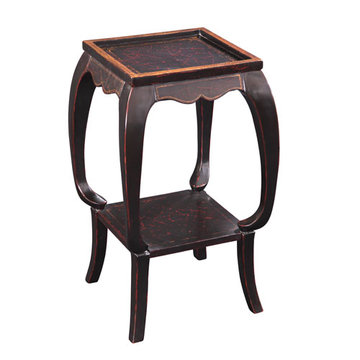 Antique Black End Table