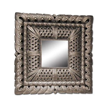 Antique Silver Large Frame Mirror