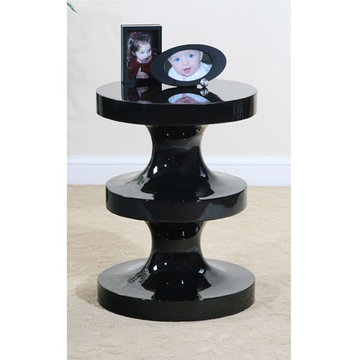 Black Lacquer Screw Table