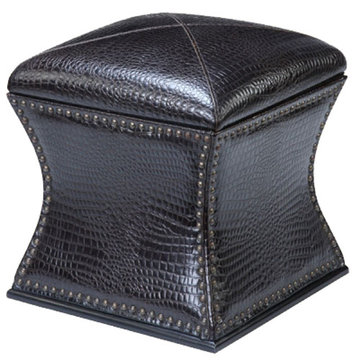 Black Storage Stool