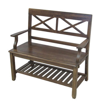 Brown Double X Bench