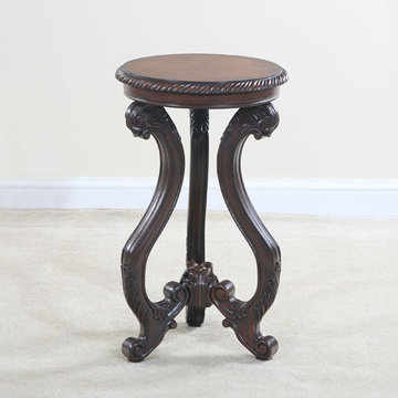 Classica Round Cherry Veneer End Table