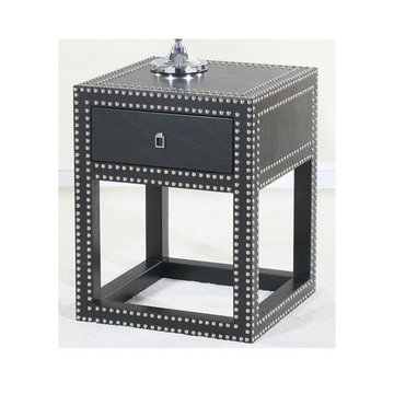 Contempo Black Vinyl End Table