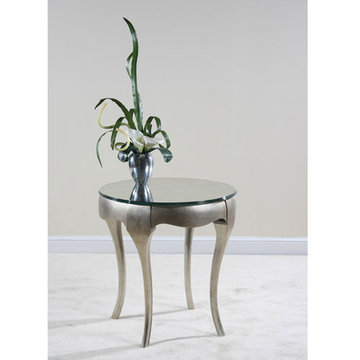 Contempo Silver End Table