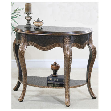 Copper Demilune Open Console