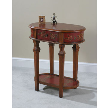 Crimson Lamp Table