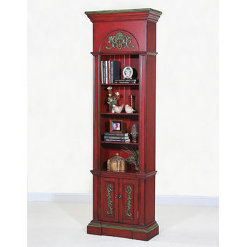 Crimson Narrow Bookcase