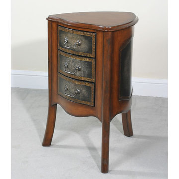 Drummond Triangular 3 Drawer End Table
