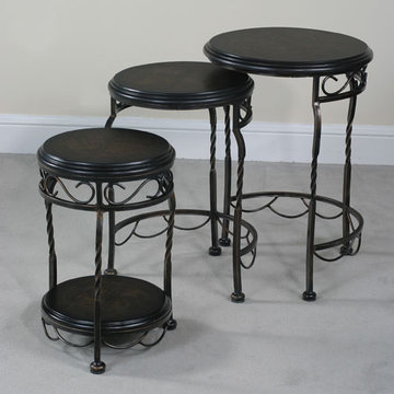 Emerson Iron Base Round Nest Tables