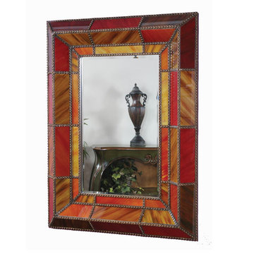 Exquisite Regina Autumn Glass Mirror