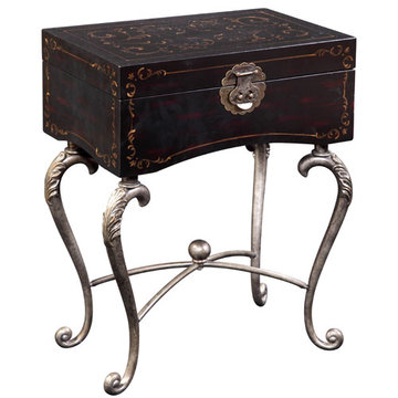 Iron Black Trunk Table