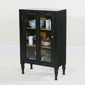 Keeping Room Black Glass Door Cupboard