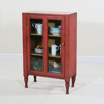 Keeping Room Red Glass Door Cupboard