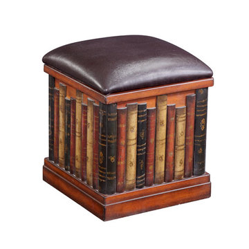 Leather Like Book Ottoman