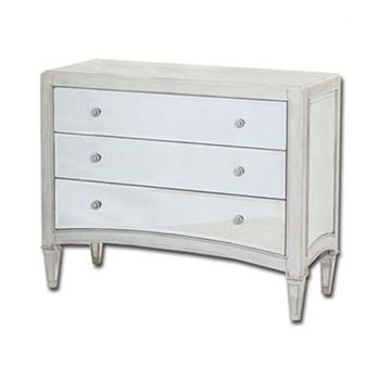 Manhattan Mirrored Three Drawer Chest