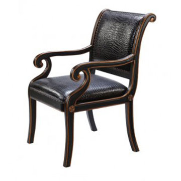 Maria Ebony Croco Chair