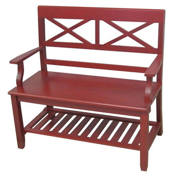 Ming Red Double X Bench