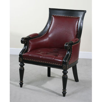 Monty Cabernet Faux Leather Chair
