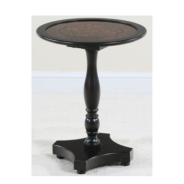 Myriad Black Glass Top End Table