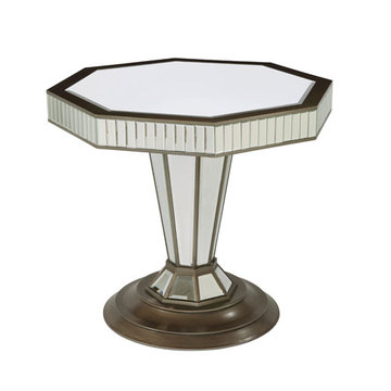 Octogon Mirrored Entry Table