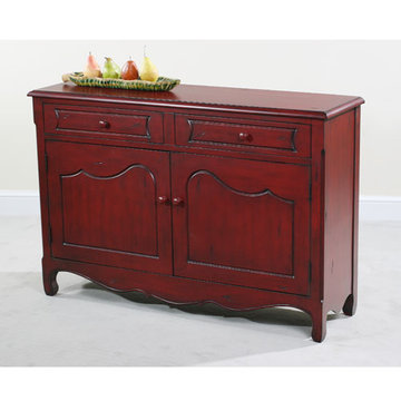 Rachel Distressed Red Cupboard