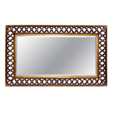 Rectangular Antique Gold Mirror