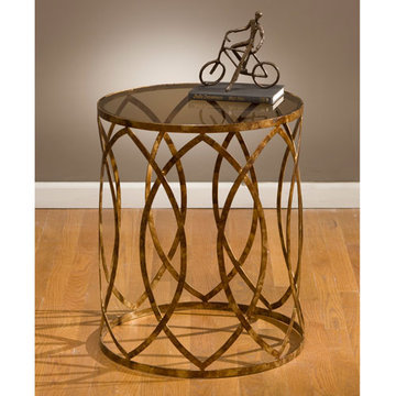 Southwest Steel Barrel End Table
