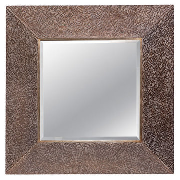 Square Dark Brown Mirror
