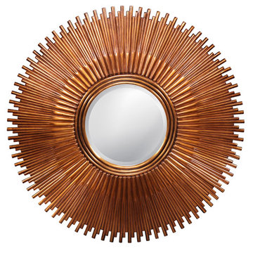 Sun Burst Antique Gold Mirror