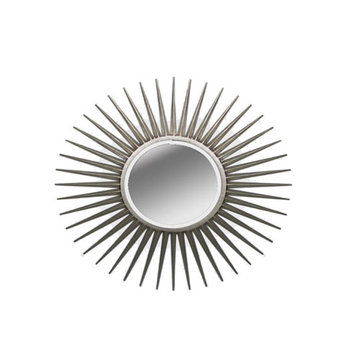 Sunburst Silver Mirror
