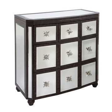 Three Drawer Mirrored Chest
